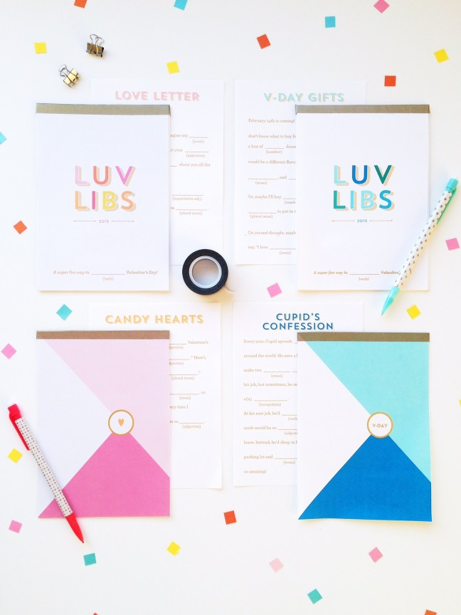 DIY Valentine's Day Mad Libs Notebooks   Shauna Younge