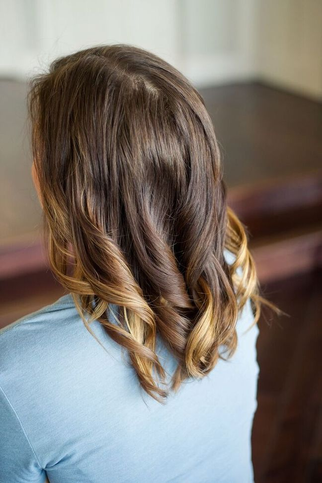 brown hair curls