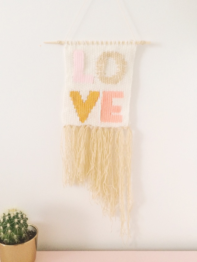 Diy Love Typography Woven Wall Hanging Tutorial