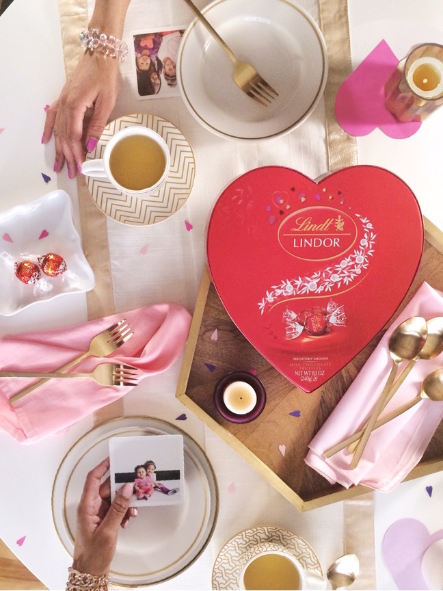 For your sweet sister(s) | 4 Ways to style LINDOR Truffles for Valentine's Gifts | Shauna Younge for Momtastic