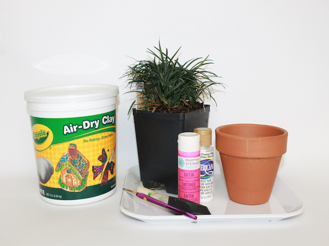 planter paint clay