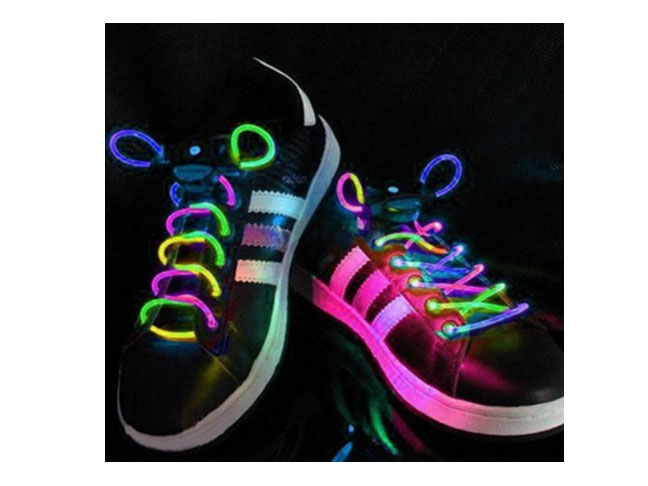 Multi-Color LED Light Up Waterproof Shoelaces