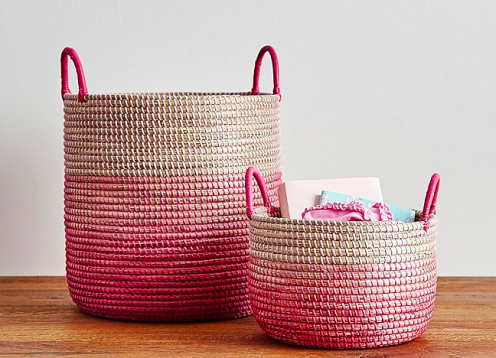 ombre storage basket
