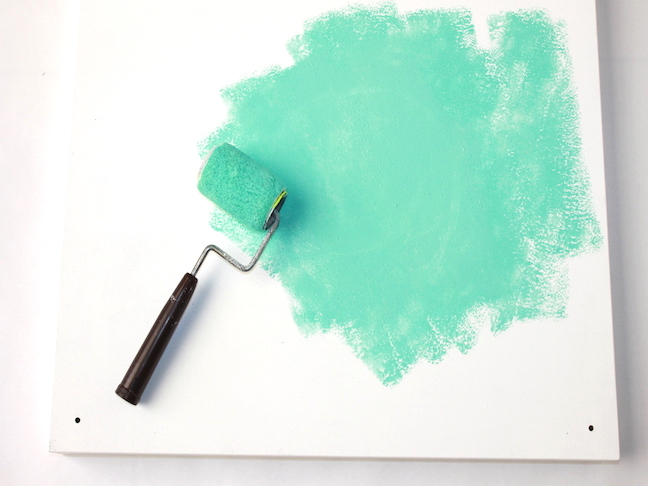 mint green mini paint roller