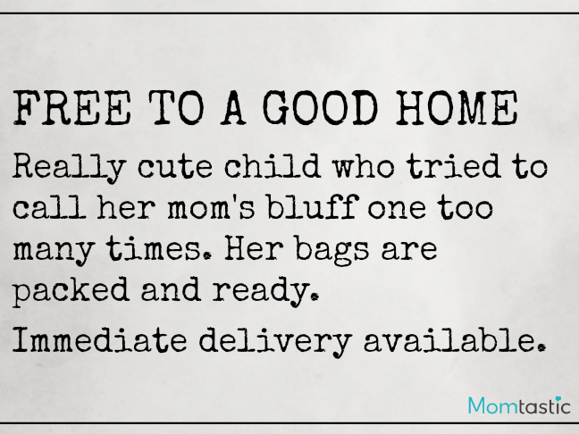 Want Ads Moms Would Love to Make on @ItsMomtastic by @letmestart | Free to a Good Home Funny Want Ads for parents and LOLs for moms