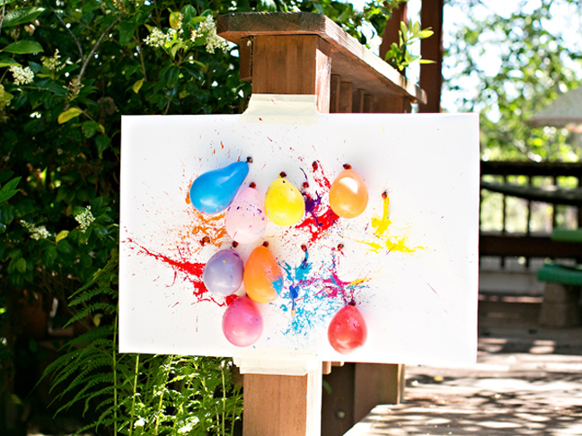 Backyard Birthday Party Ideas For Kids abstract art with balloons