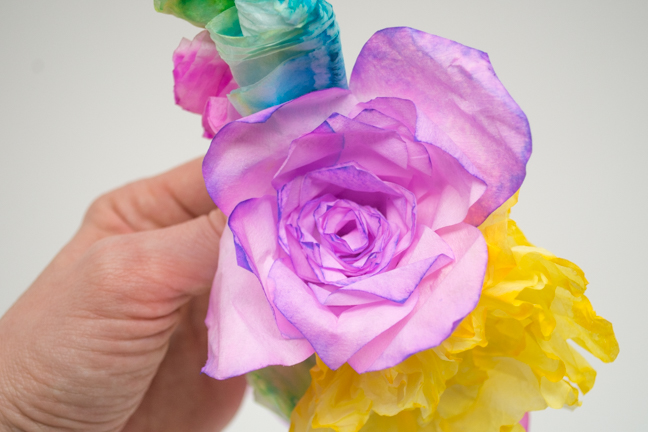 colorful paper roses