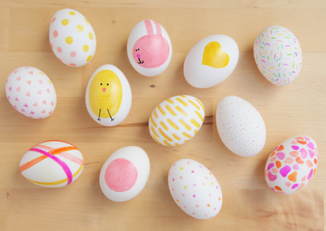colorful sharpie eggs