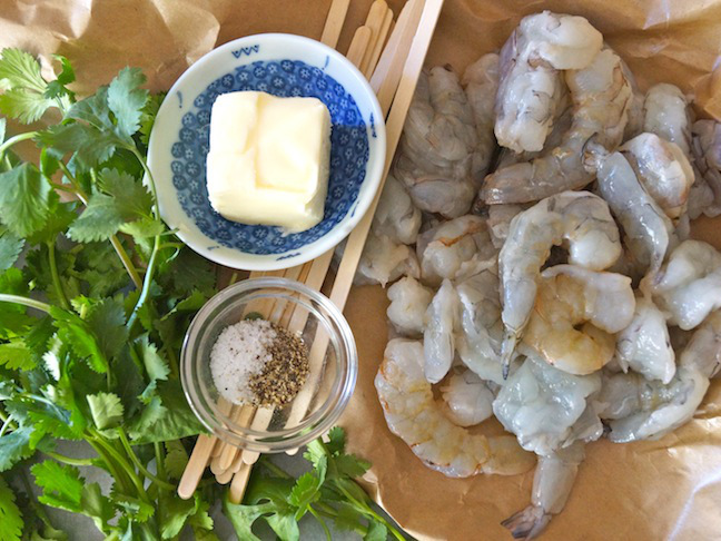 fresh prawn butter herbs
