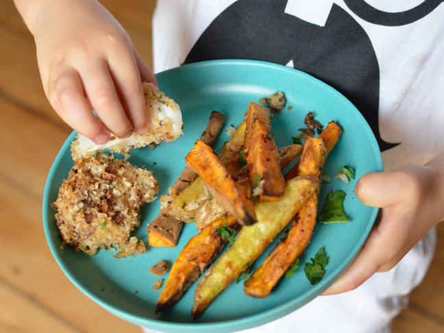 Kids love this healthy fish fingers recipe