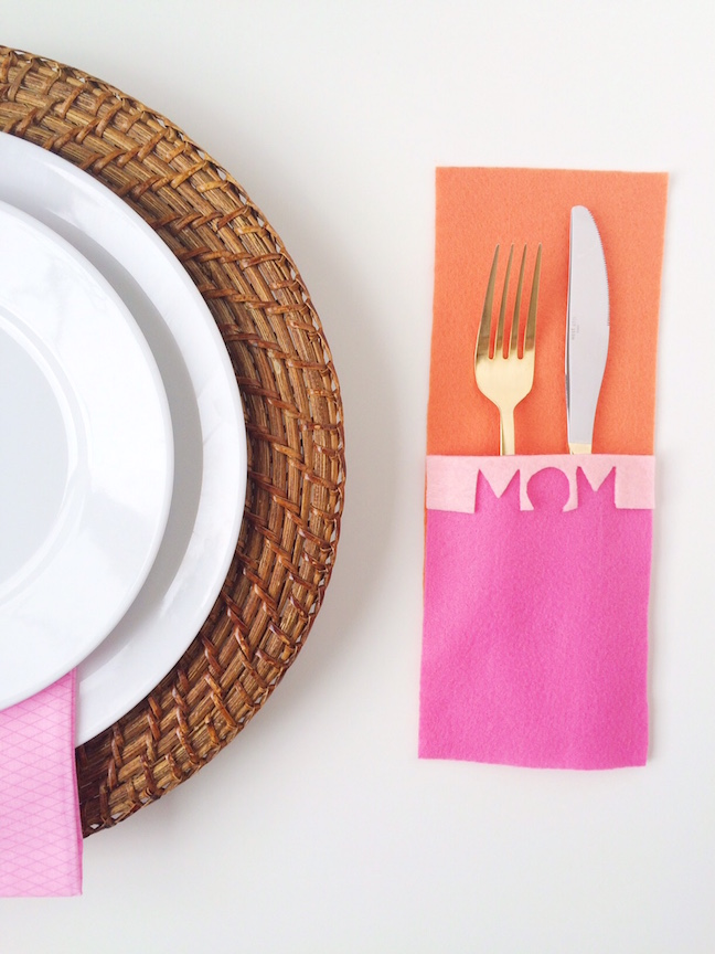 DIY Modern Mother's Day Flatware Mat | Shauna Younge