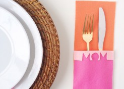 [FREE TEMPLATE] DIY M-O-M Cutout Flatware Mat for Mother's Day