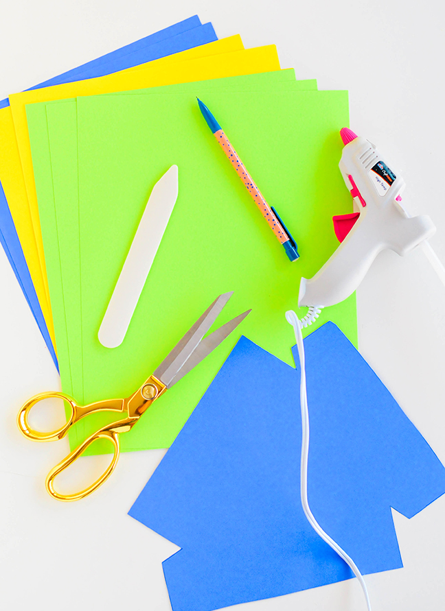 bright paper hot glue gun scissors