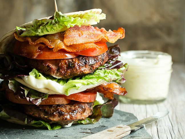 blt hamburger