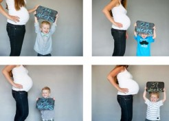 15 Adorable Weekly Baby Bump Photo Ideas