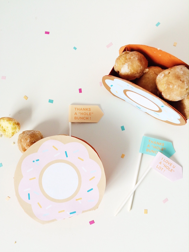 DIY Donut Hole Favour Box | Shauna Younge