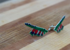 How To Make DIY Cufflinks from Your Child's Artwork