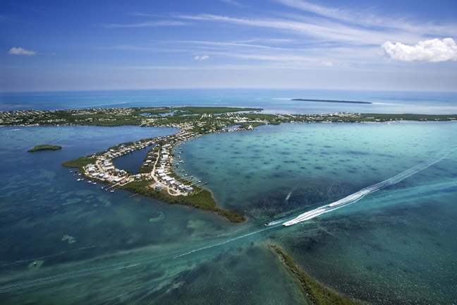 Aerial view of Florida Keys
