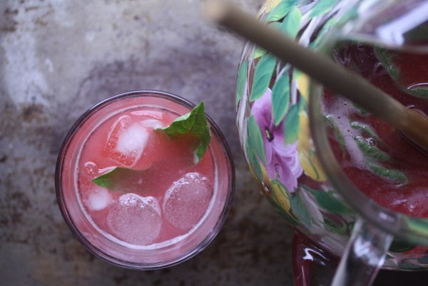 Raspberry Basil Pink Lemonade