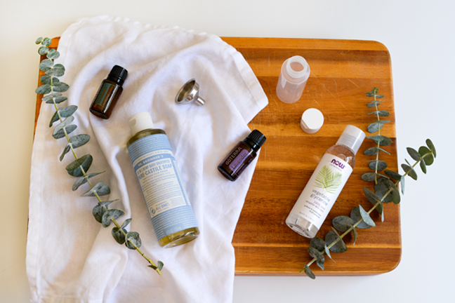 castile soap and essential oils