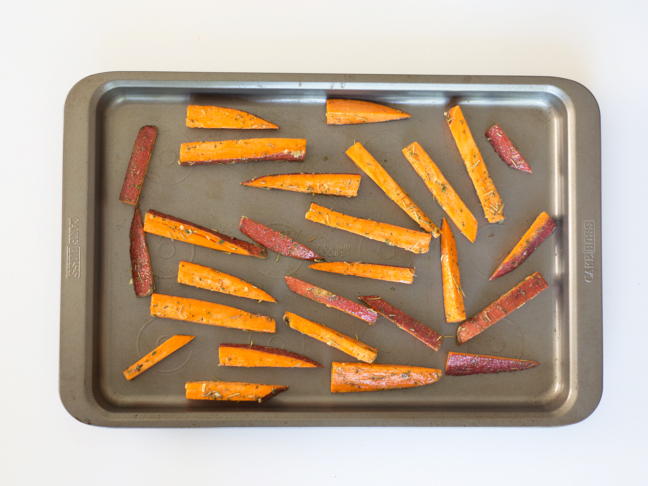 sweet-potato-rosemary-ranch-fries-on-baking-sheet