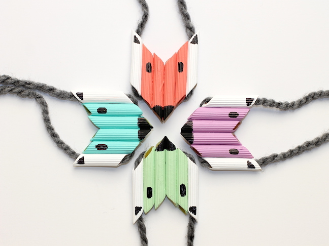colorful fox pasta necklaces how-to