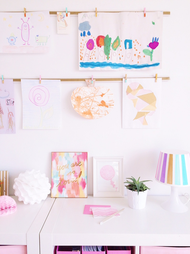 DIY Kids Artwork Gallery Display