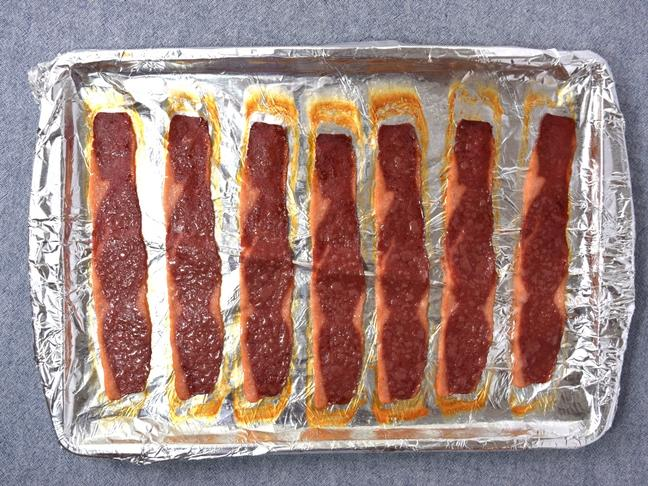 turkey bacon cooked in oven