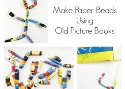 How to Make Paper Beads Out of Old Picture Books