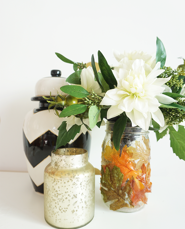 Diy Mod Podge Mason Jar Vase For Fall