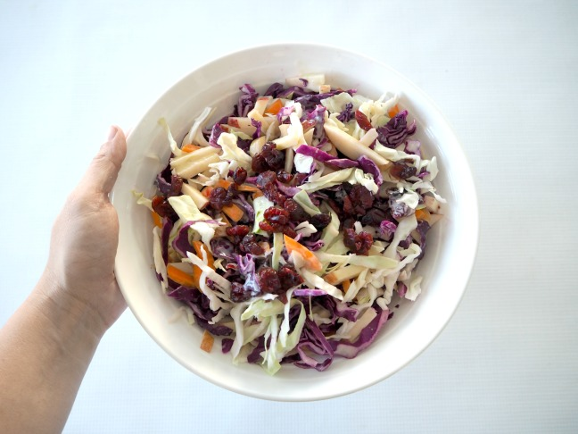 Apple and Cranberry Coleslaw