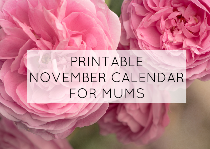 November printable calendar for mums
