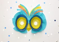 DIY Owl Mask Made With Cupcake Liners