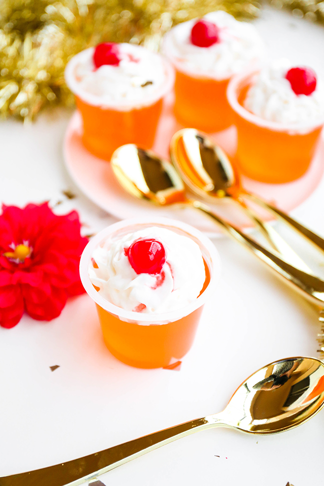 Colorful Jello Cups For Oscars Party