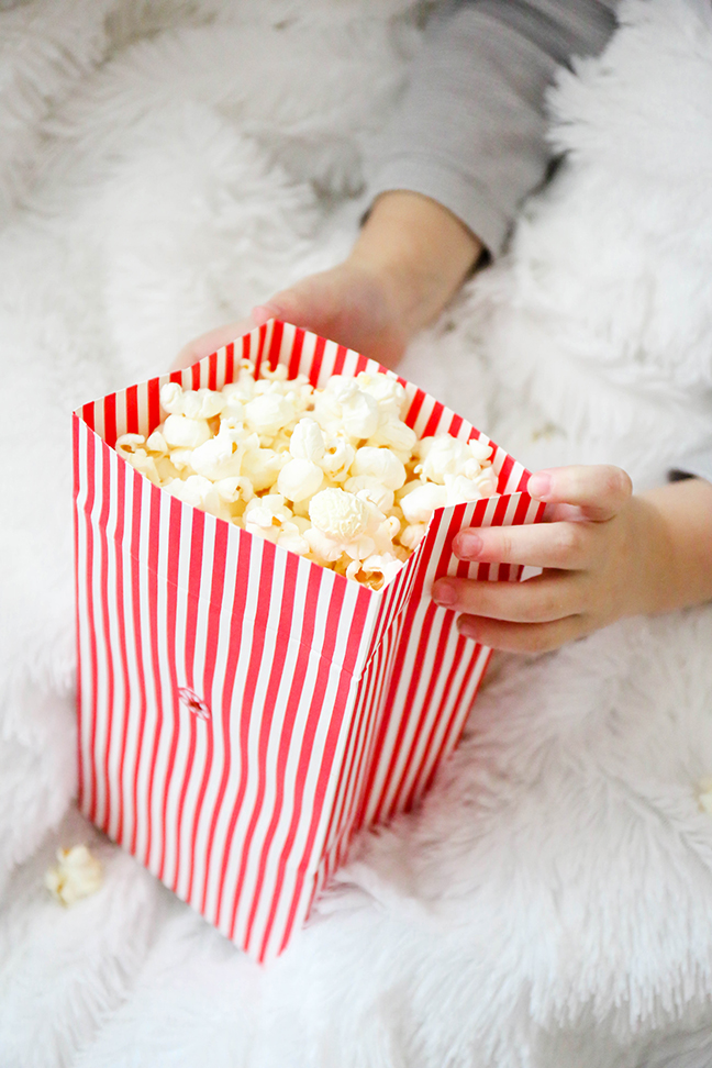 diy movie night with popcorn