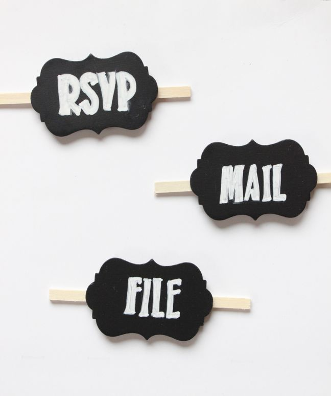 mail-file-bills-organization-chalkboard-labels-black-white