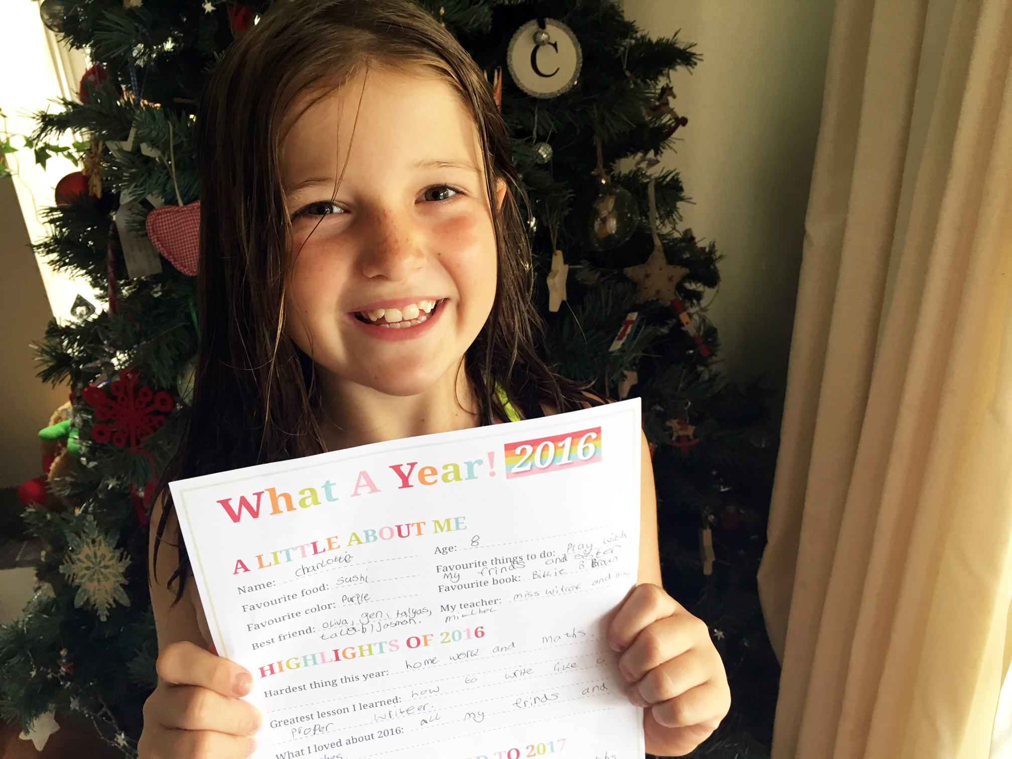 New Year Resolutions for Kids - happy