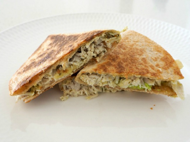 Chicken, Pesto and Feta Quesadillas