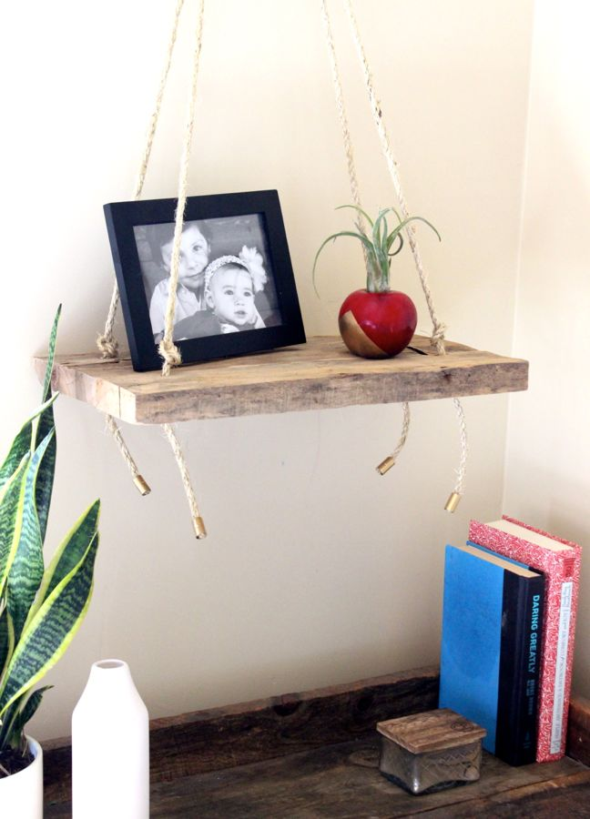wood swing shelf rope