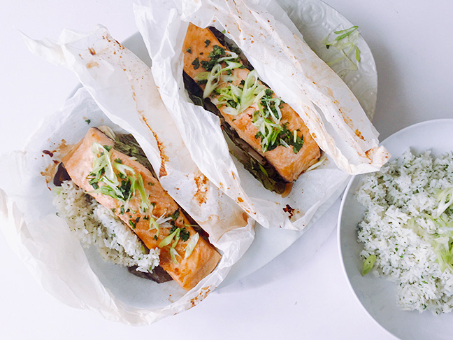 Asian Style Salmon Parcels