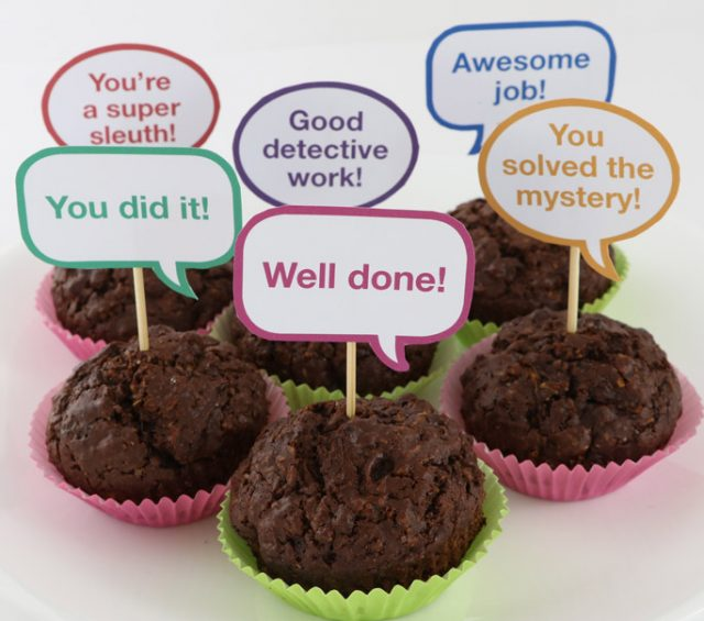 Find the cakes at the end of the scavenger hunt you can create with these free printable clues
