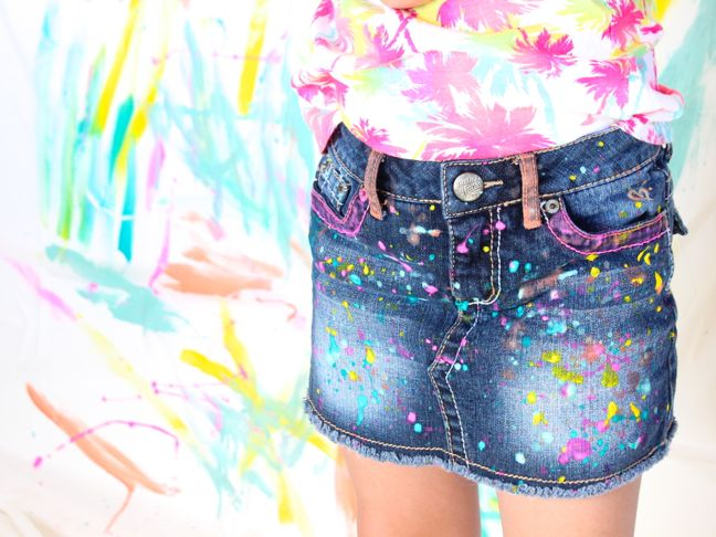 paint-splatter-jean-shirt-colorful-palm-trees-and-brush-stroke-art