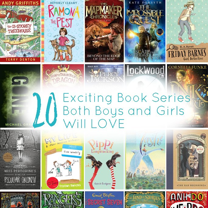20 Book Series that Boys and Girls Both Love - feature