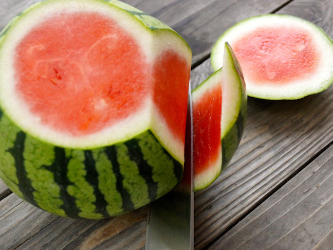 watermelon slicing off sides