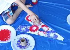DIY Kids Fireworks Paint Craft Made from Recycled Toilet Paper Rolls