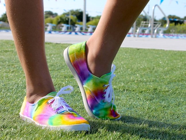 final tie dye sneaker project
