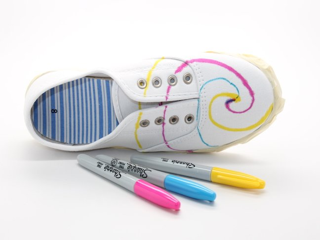 step 2 Tie Dye Sharpie Sneaker Project