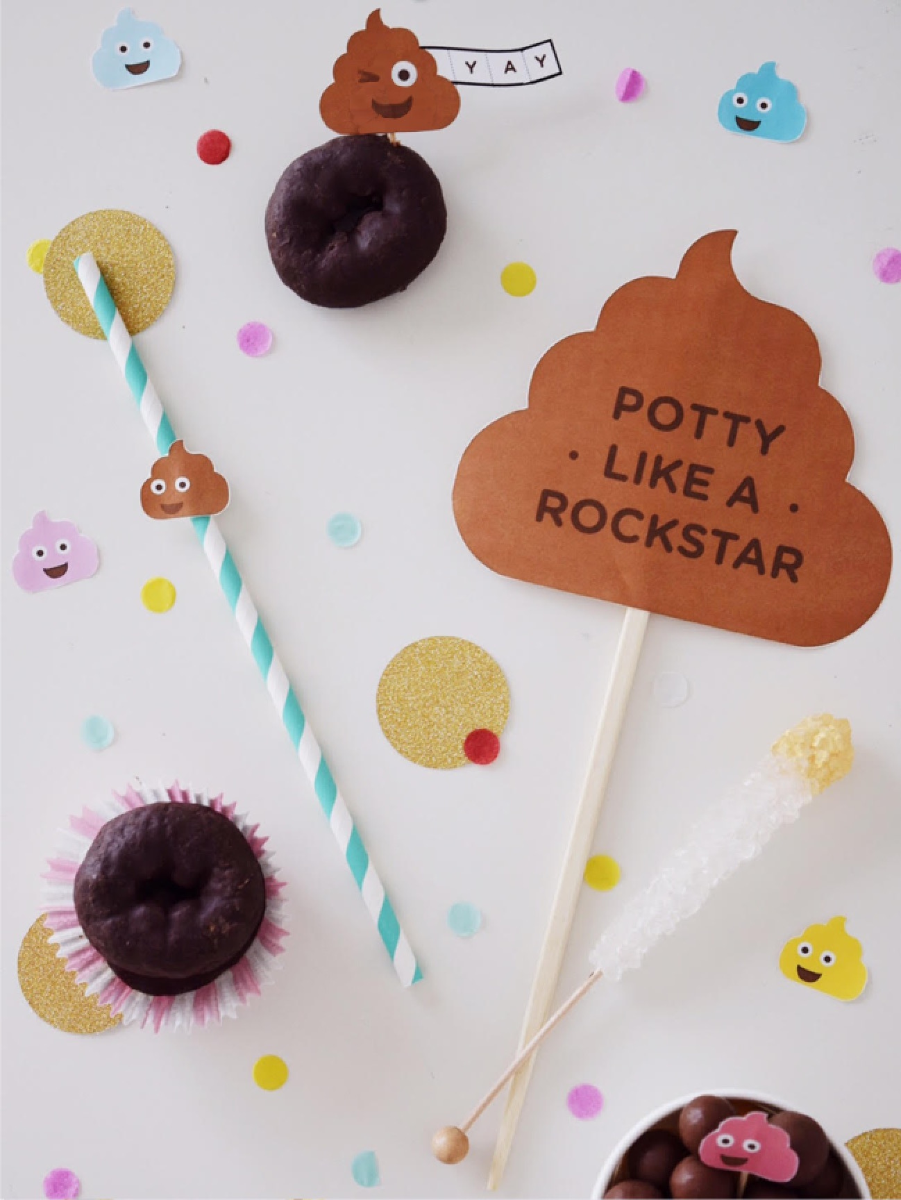 DIY Potty Like Rockstar Party and Printable Photo Booth Props   Potty Training Party