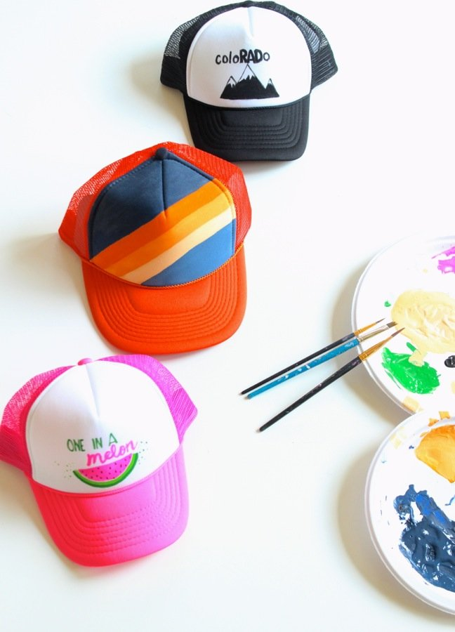 diy-trucker-hats-watermelon-blue-orange-black-and-white-hat