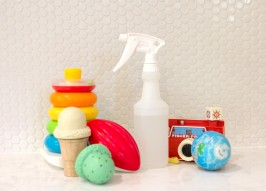DIY Nontoxic Toy Cleaner